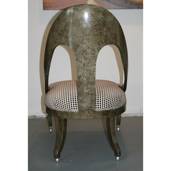 Pair Of Michael Taylor For Baker Furniture Slipper Chairs At 1stdibs