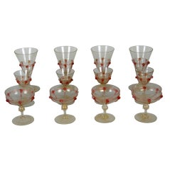 Antique Venetian Murano Glass Stemware