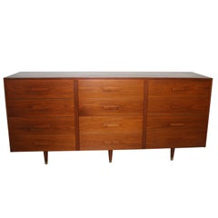 Mid-Century Modern Twelve Drawer Dresser