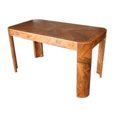 Italian Burled Olive Wood Desk