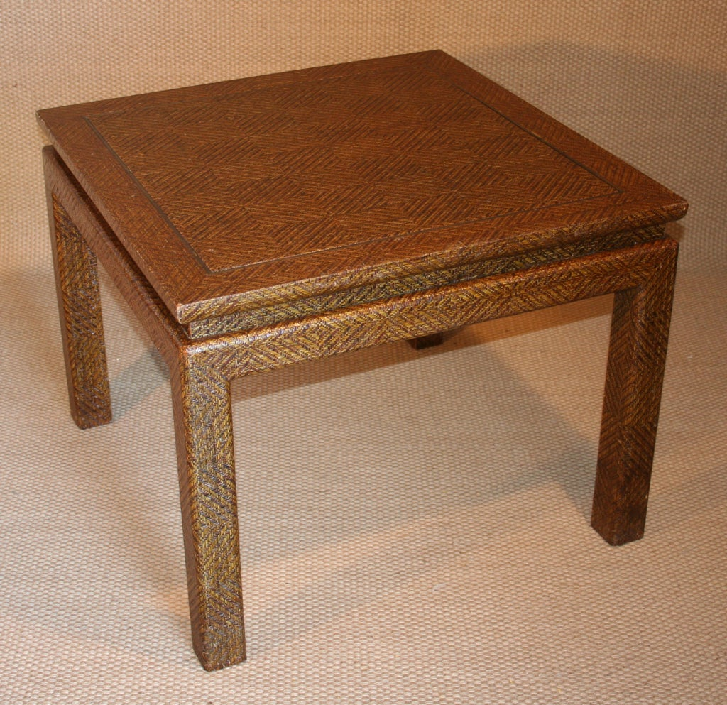 A Lovely Pair Of Mid Century Modern Side Or End Tables Covered In A  Patterned
