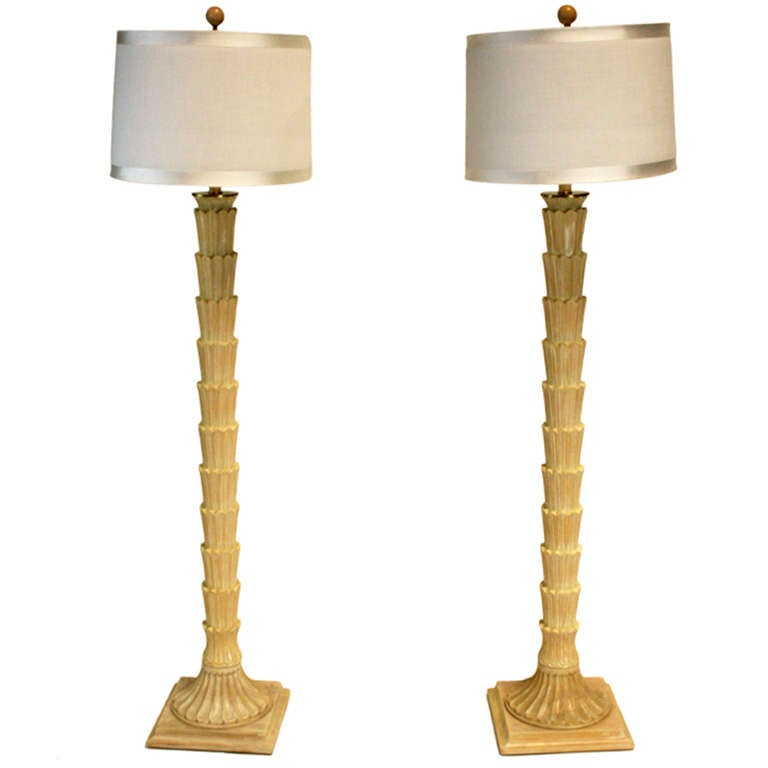 Pair of Faux Palm Tree Floor Lamps at 1stdibs