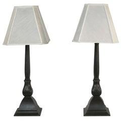 Pair of Just Andersen Denmark, Art Moderne Lamps