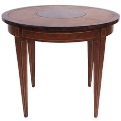 Maitland Smith Leather and Faux Tortoise Table
