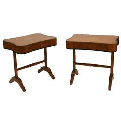 Pair of Biedermeier Style Side Tables or Nightstands