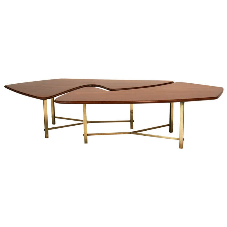Italian mahogany and bronze coffee table for sale at 1stdibs Bronze coffee tables
