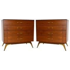 Pair of Mid-Century Chest of Drawers,