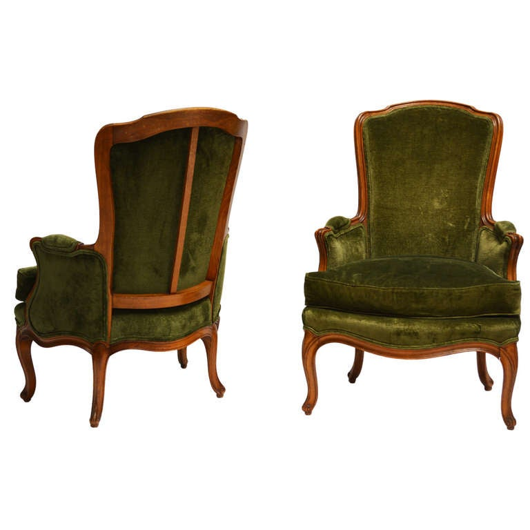 Pair of Louis XV Style Bergeres by Maison Jansen