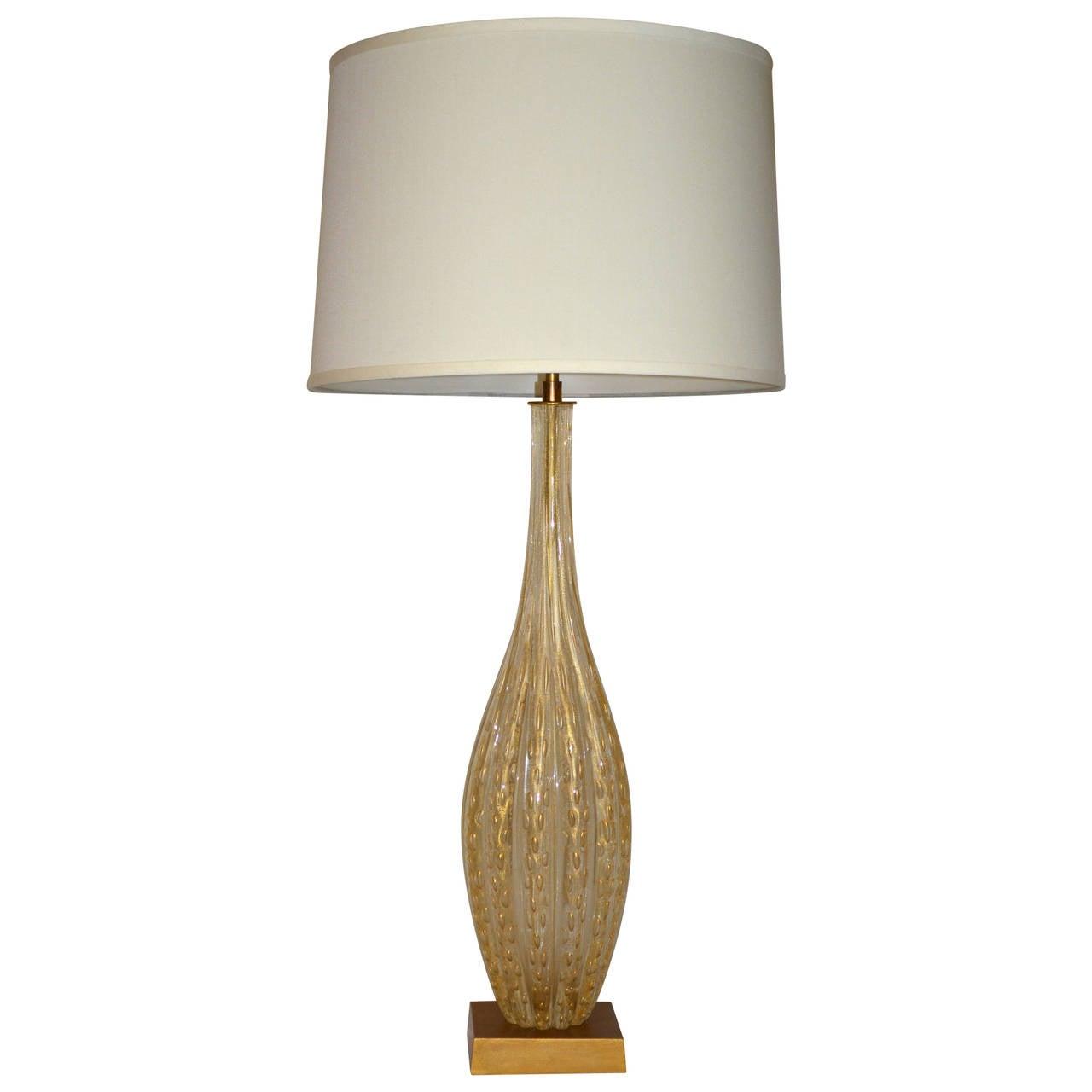 Mid-Century Barovier e Toso Fluted Murano Lamp