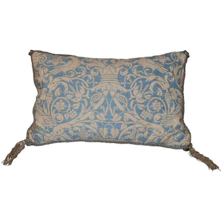 Vintage Fortuny Pillow 1