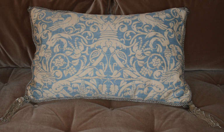Vintage Fortuny Pillow 2