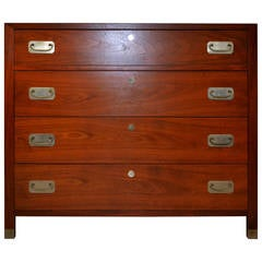 Mid-Century Walnut Chest of Drawers