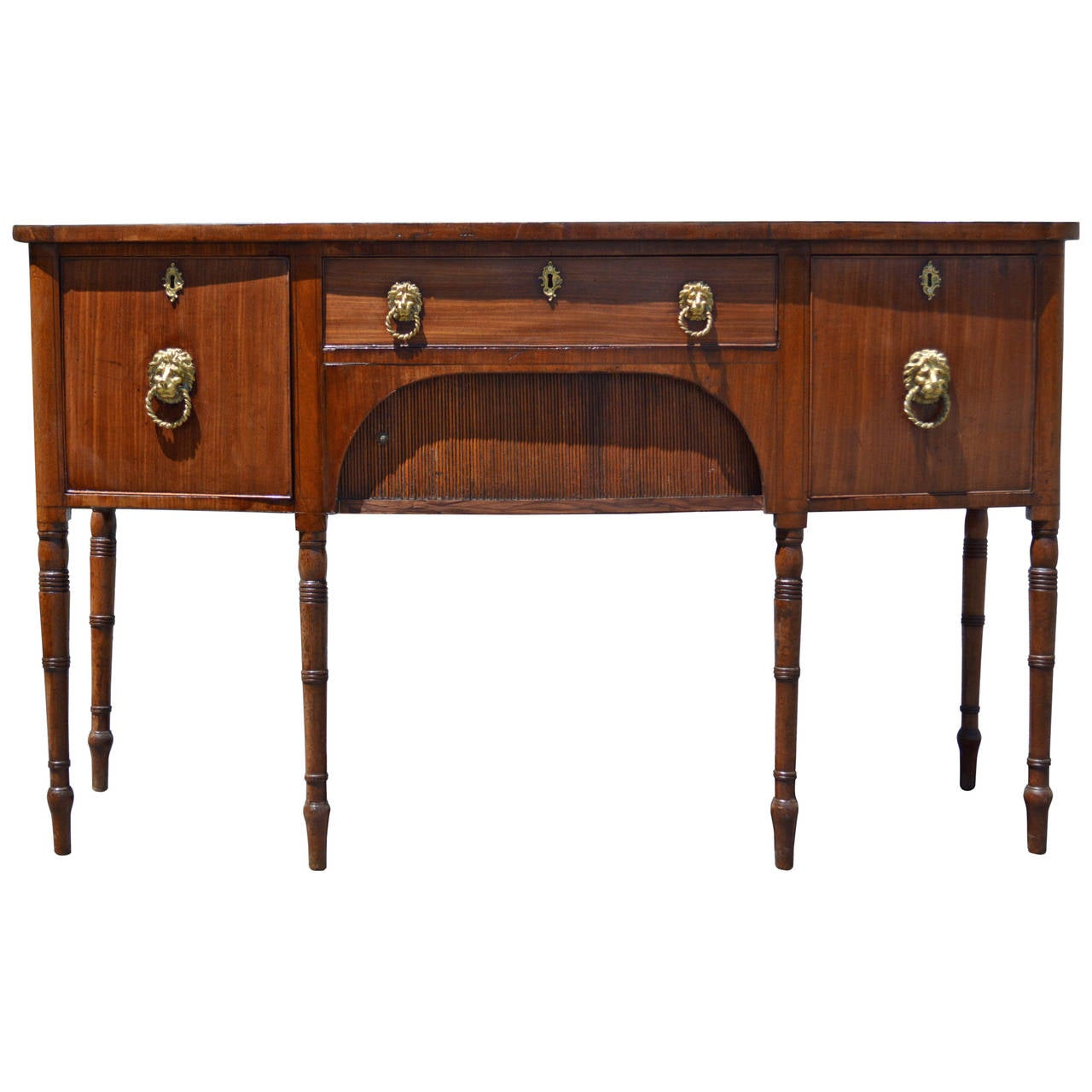 19th Century Regency English Mahogany Sideboard 1 - 19th Century Regency English Mahogany Sideboard For Sale At 1stdibs