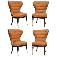 Balloon Wingback Chairs, Four Available
