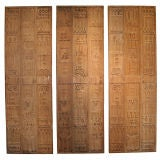 Set of 3 Carved Redwood Panels by Evelyn Ackerman for Panelcarve