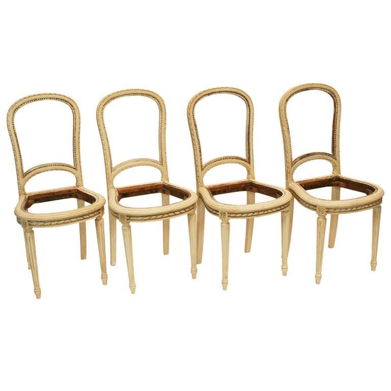 Set of Louis XVI Style Balloon Back Chairs