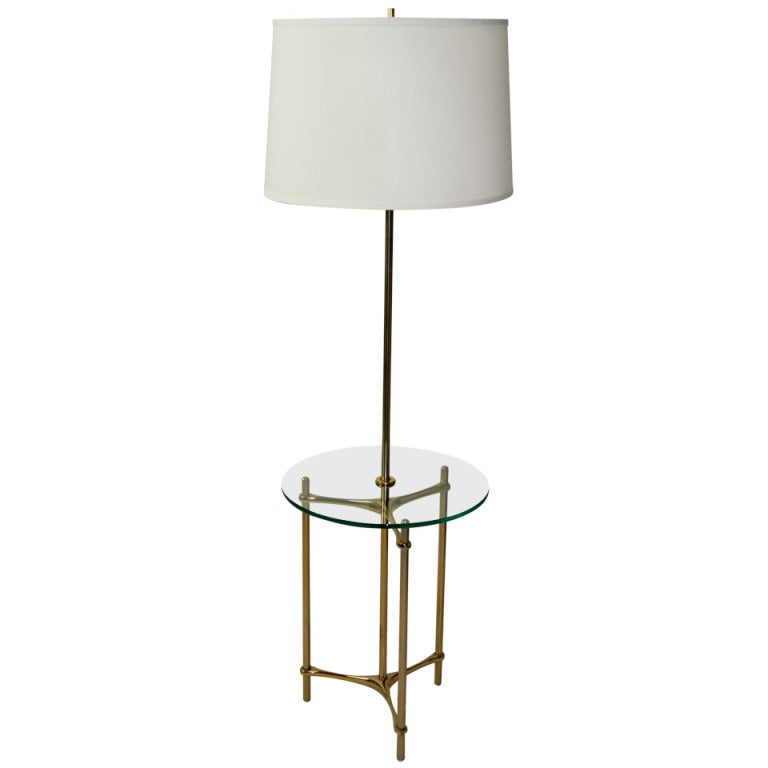 Laurel Floor Lamp Table At 1stdibs