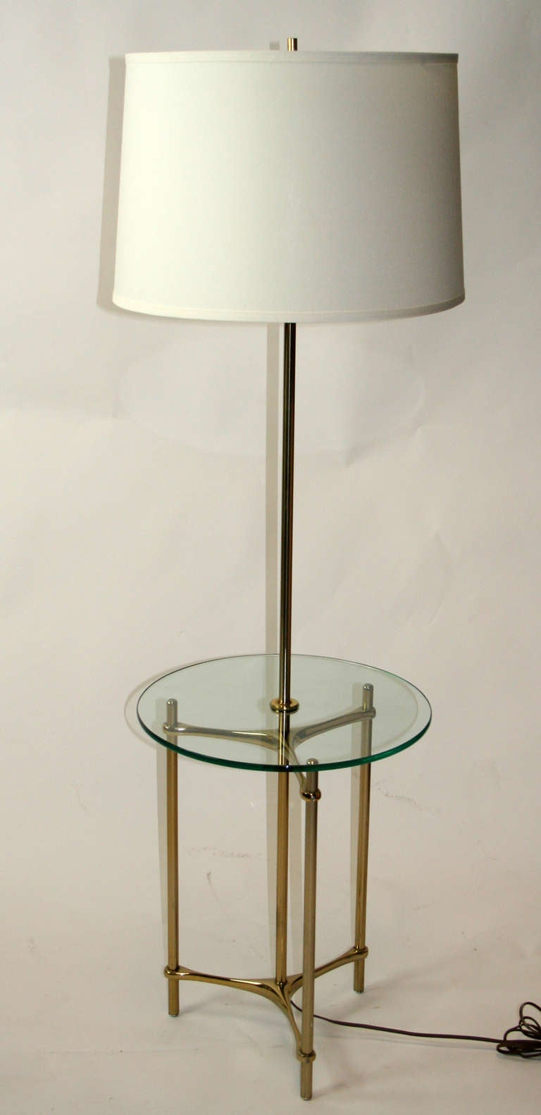 Laurel floor lamp table at 1stdibs for Floor lamp with table