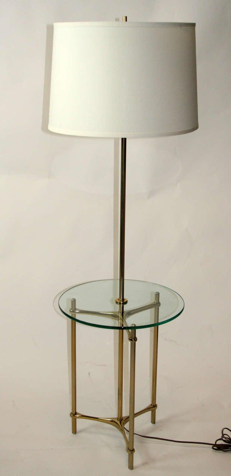 Laurel Floor Lamp Table At 1stdibs