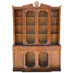 1930s Grosfeld House Regency Style Breakfront Secretaire