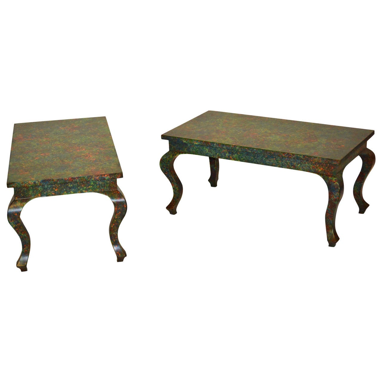Pair of Chinese Inspired Vintage Coffee Tables