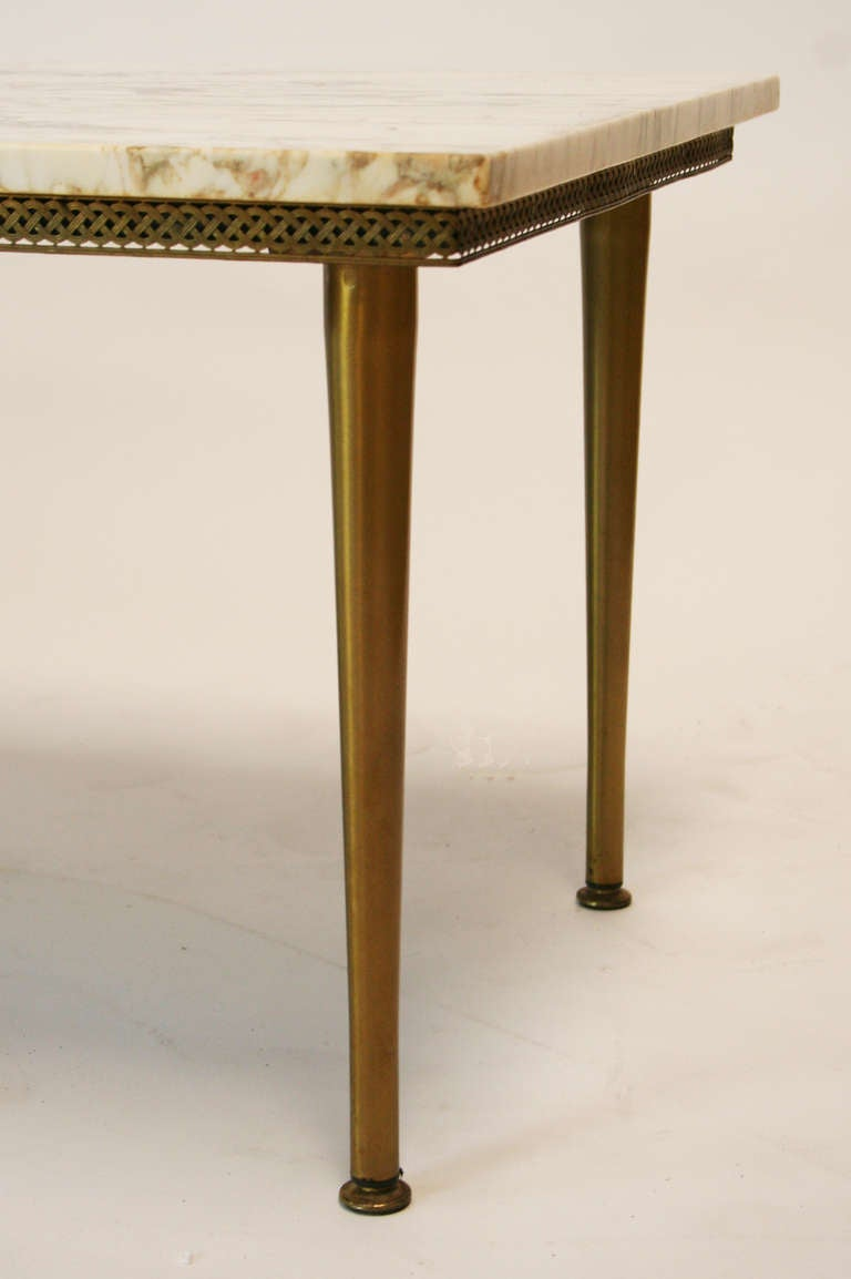 1950 39 S Italian Marble And Brass Coffee Table At 1stdibs