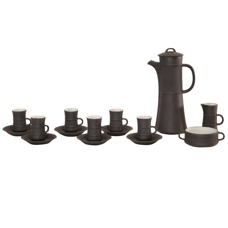 Dansk Flamestone Coffee Set by Jens Quistgaard