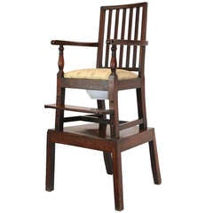 18th Century Mahogany Convertible Child's High Chair