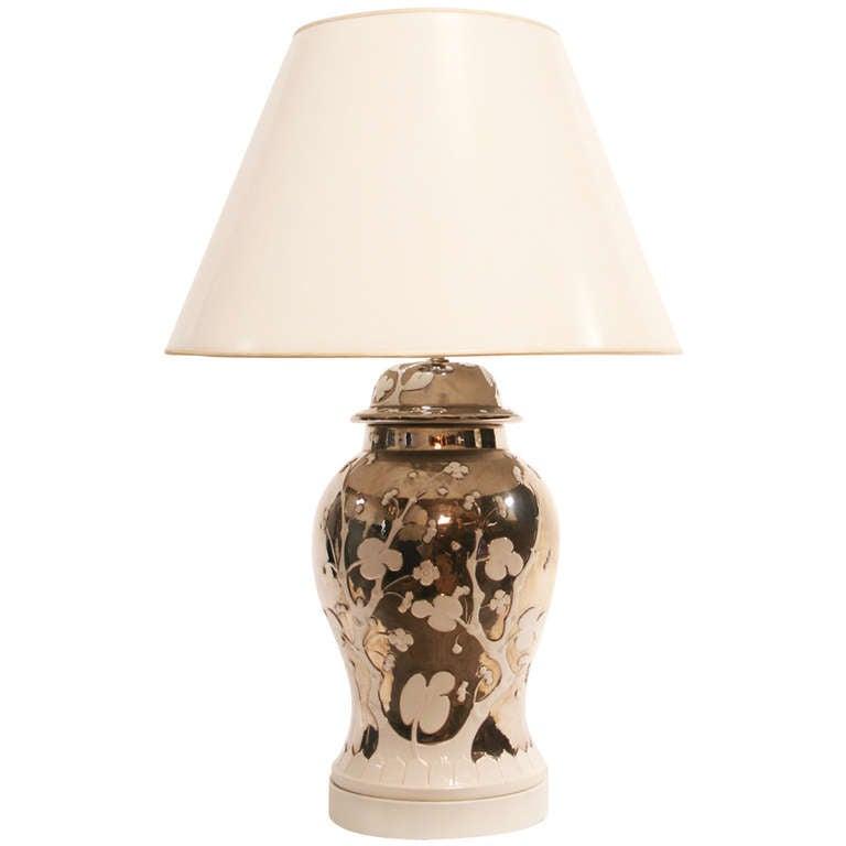 Mercury Glazed Blanc de Chine Lamp