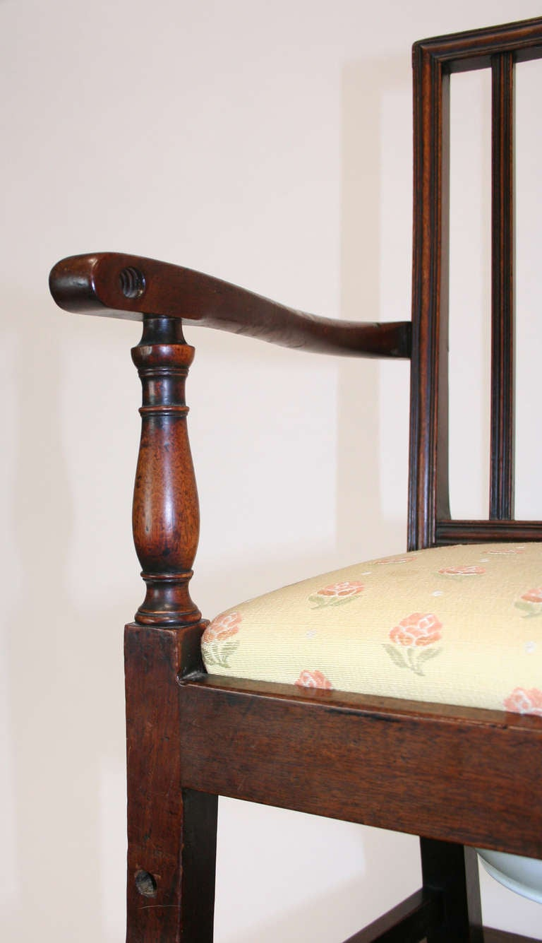 George III 18th Century Mahogany Convertible Child's High Chair For Sale
