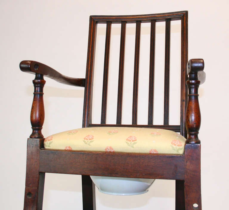 18th Century Mahogany Convertible Child's High Chair In Good Condition For Sale In Palm Springs, CA