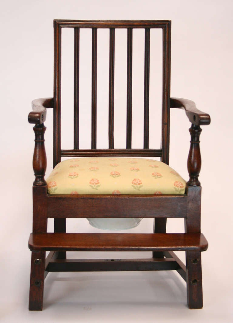 Ceramic 18th Century Mahogany Convertible Child's High Chair For Sale