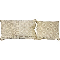 "Vintage Fortuny ""Ashanti"" Pillows"