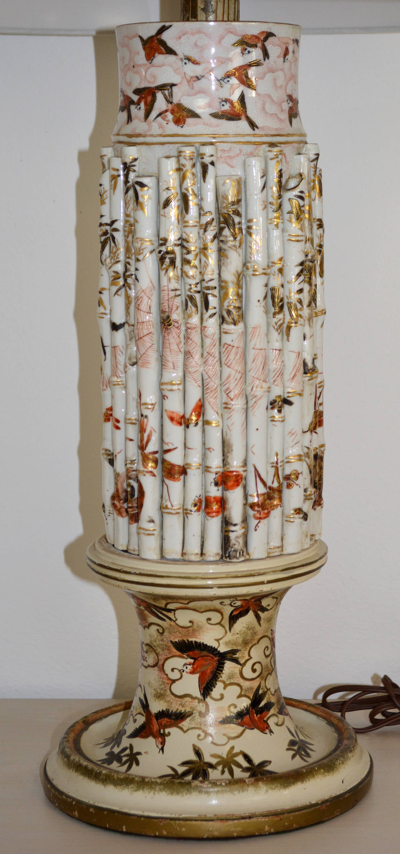 Pair Of Japanese Porcelain Lamps For Sale At 1stdibs