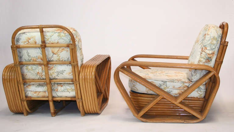 Sculptural Art Deco Rattan Set For Sale At 1stdibs