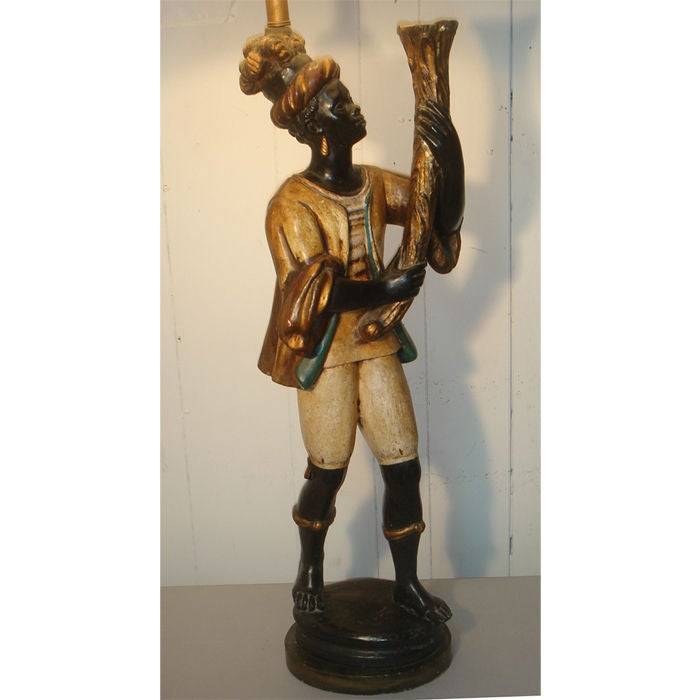 Venetian Blackamoor Lamp For Sale at 1stdibs