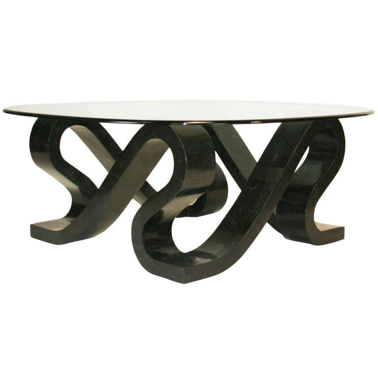 "Tessellated Stone ""Ribbon"" Coffee Table For Sale At 1stdibs"