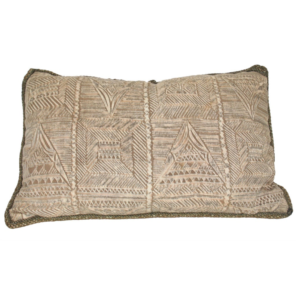 Throw Pillows Vintage Fabric : Vintage Fortuny Fabric Pillow For Sale at 1stdibs