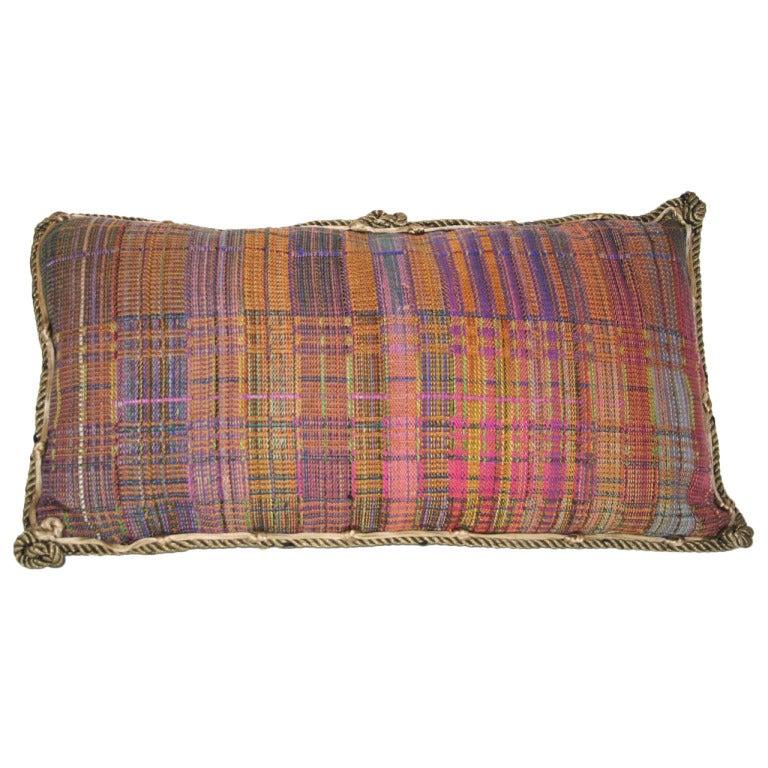 Vintage Textile Pillow For Sale