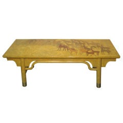 Mid-Century Modern Japanese Lacquered Coffee Table