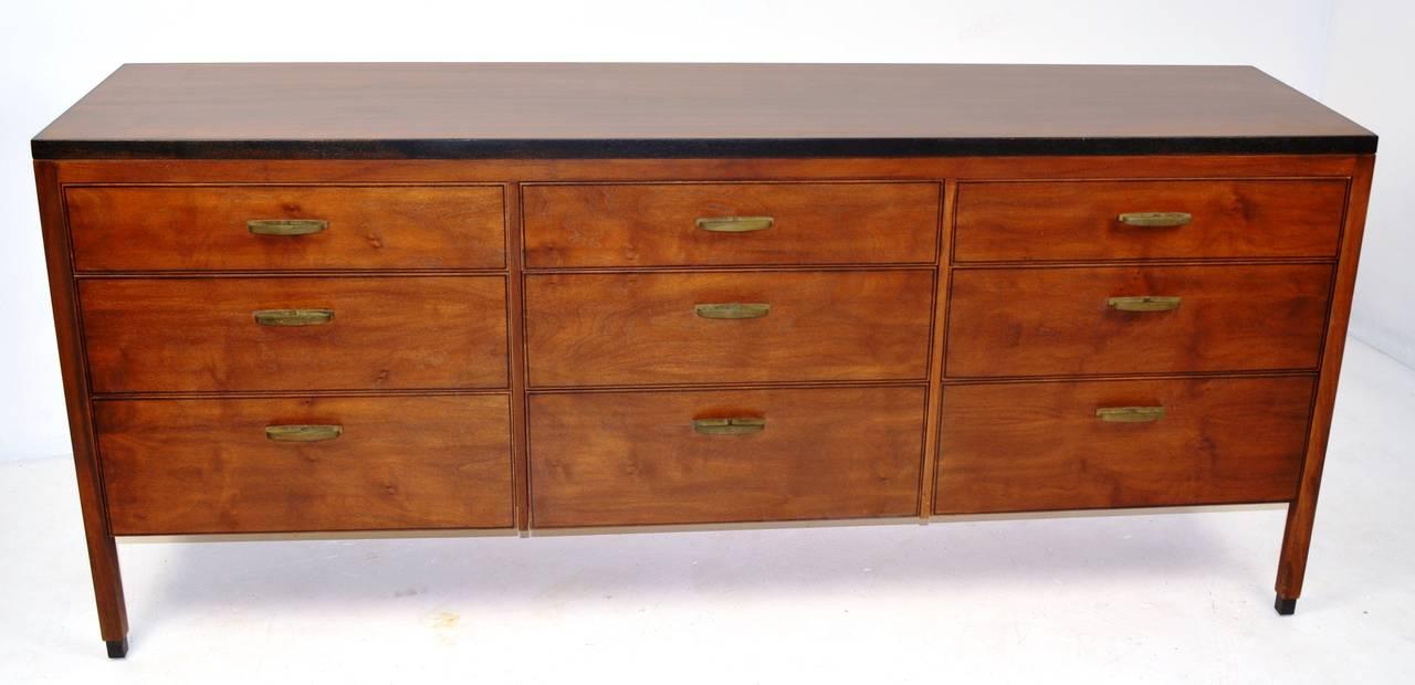 Mid Century Nine Drawer Dresser For Sale At 1stdibs