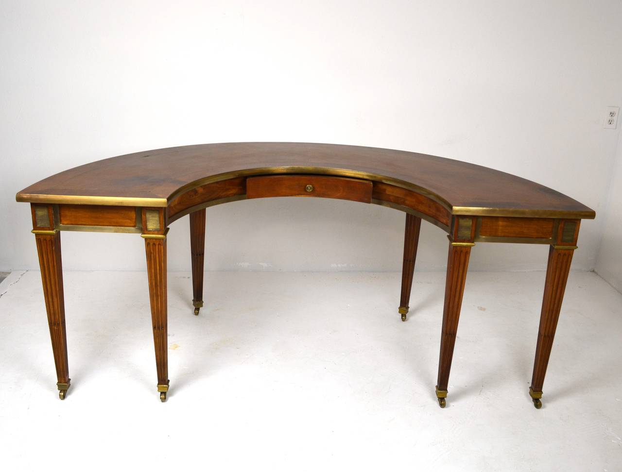 Etonnant Elegant Neo Classical Style Hunt Table Or Desk
