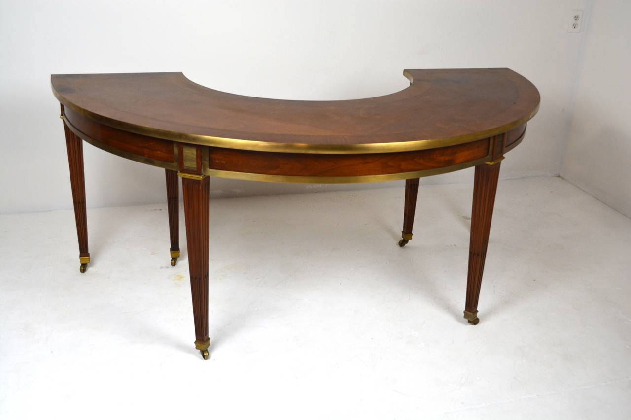 Elegant Neo Classical Style Hunt Table or Desk For Sale at