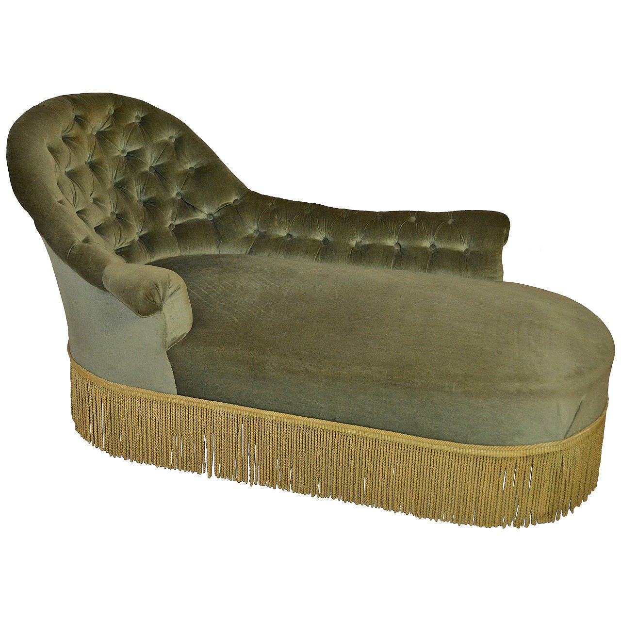 19th century tufted chaise for sale at 1stdibs. Black Bedroom Furniture Sets. Home Design Ideas