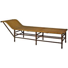 Sculptural 19th Century Caned Daybed Recamier