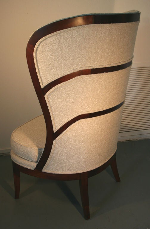 John Gilmer for Porter & Plunk reproduction of a 1930's Swedish chair by Uno Ahrens, featured in David Adler's Clow House in Lake Forest, and shown in Erik Wettergren's