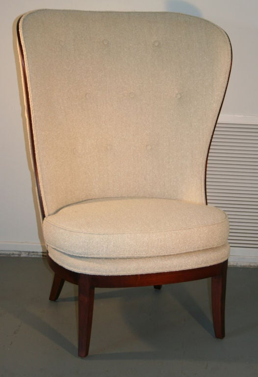 American Uno Ahrens Style Wing Chair For Sale