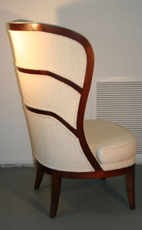 Contemporary Uno Ahrens Style Wing Chair For Sale