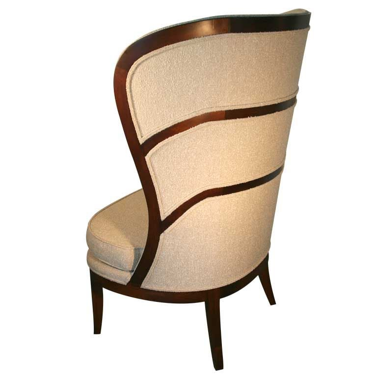 Uno Ahrens Style Wing Chair For Sale