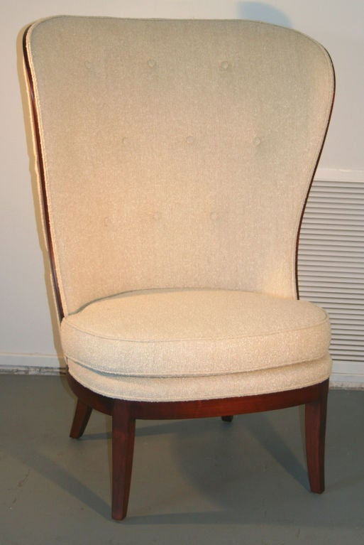 Upholstery Uno Ahrens Style Wing Chair For Sale
